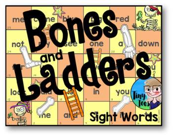 Halloween Bones and Ladders Sight Words