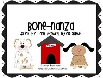 Bone-nanza Rhyming Game and Word Sort