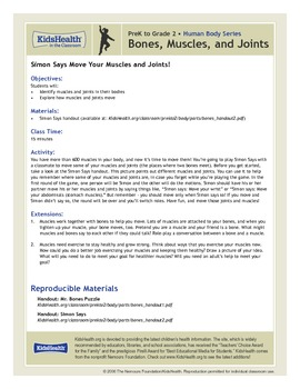 Bones, Muscles, and Joints Teacher's Guide (Pre-K to Grade 2)