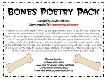 Bones Poetry Pack
