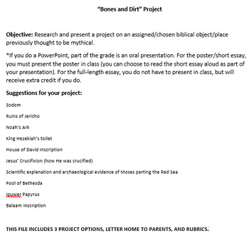 Bones and Dirt Apologetics Research Project
