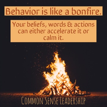 Bonfire Behavior Printable Poster