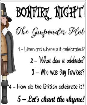 Bonfire Night Activities Guy Fawkes Flapbook