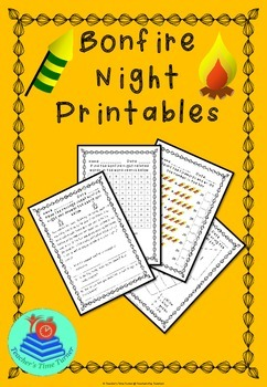 Bonfire night printables