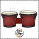 Bongos - Bongo Drums (Clip art) - Commercial Use, SMART OK!