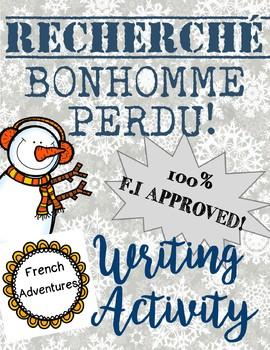 Bonhomme Recherché! Descriptive Writing Activity