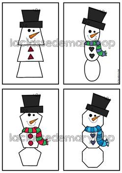 Bonhomme de neige - Formes géométriques