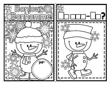 Bonjour Bonhomme! French Emergent Reader