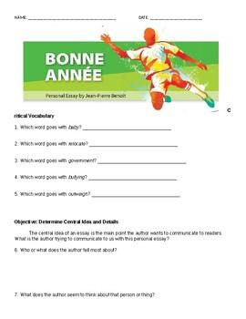 Bonne Annee Comprehensive Study Guide