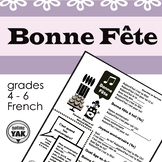 Bonne Fête: birthday song lyrics and cloze activity