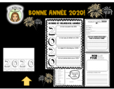 Bonne année 2020- FRENCH New Year's Resolution worksheets