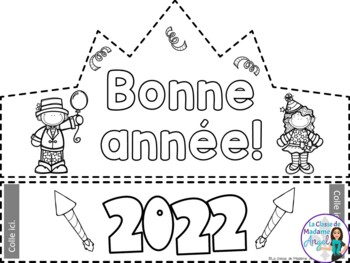 Bonne année:  French New Year's Themed FREEBIE