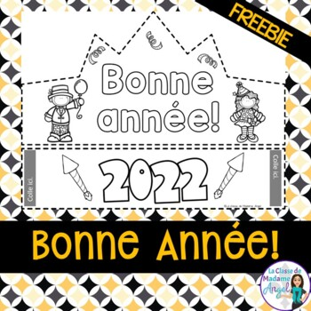 Bonne année 2019:  French New Year's Themed FREEBIE
