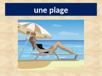Bonnes vacances (Vacation in French) power point