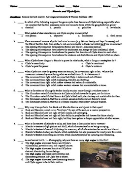 Bonnie and Clyde Film (1967) 15-Question Multiple Choice Quiz