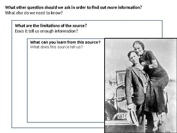 Bonnie and Clyde Source Analysis Activity