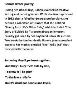 Bonnie and Clyde Word Search