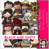 Bible Heroes clip art - BLACK AND WHITE- by Melonheadz