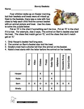 Bonny Baskets Easter Logic Puzzle