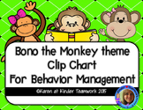 Bono the Monkey themed Clip Chart for Behavior Management