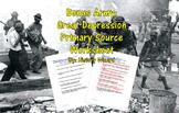 Bonus Army: Great Depression Primary Source Worksheet