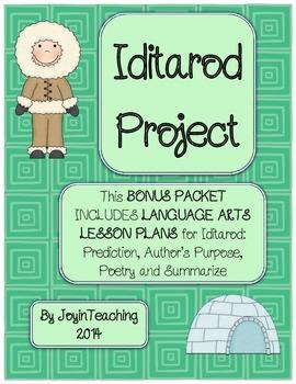 Bonus Iditarod Packet:  Language Arts Lesson Plans and Stu