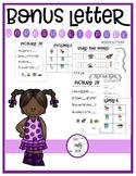 Bonus Letter   Double Consonant   Worksheet Pack