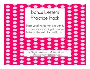 Bonus Letter Practice Pack