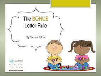 """""""Bonus Letter"""" Rule Powerpoint"""