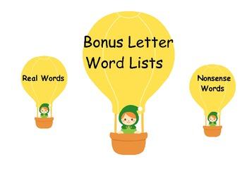 Bonus Letter Word Lists