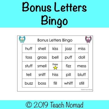 Bonus Letters Bingo