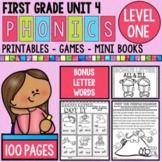 Level 1 Unit 4 Bonus Letters Games and Activities