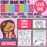 Level 1 Unit 4 Bonus Letters Games and Activities
