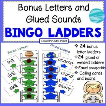 Bonus Letters and Glued Sounds Bingo Word Ladders