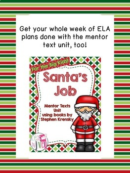 Bonus Mentor Sentence Lesson: How Santa Got His Job