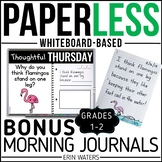 Bonus Paperless 1st & 2nd Grade Morning Work {Whiteboard-based & EDITABLE}