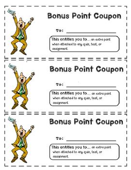 Bonus Point Coupon
