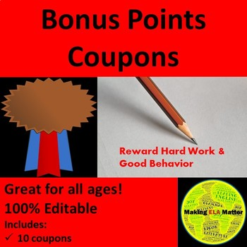 Bonus points teaching resources teachers pay teachers fandeluxe Gallery