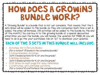 Bonus: Reading Comprehension, Writing and Craftivities BUNDLE