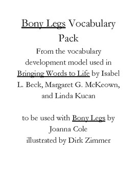 Bony Legs Vocabulary Pack