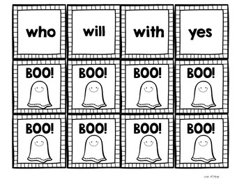 Boo! A Halloween Primer Sight Word Game