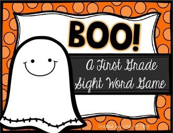 Boo! A Halloween First Grade Sight Word Game