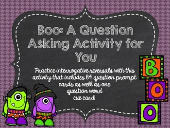 Boo: A Question Asking Activity for You