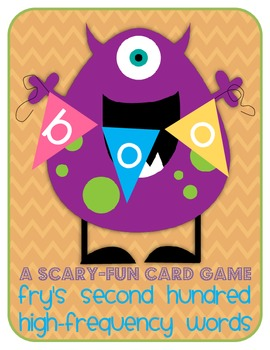 Boo! A Scary-Fun Card Game - Fry's High Frequency Words: Second Hundred