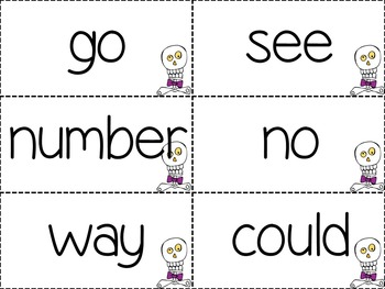 Boo! A Sight Word Game