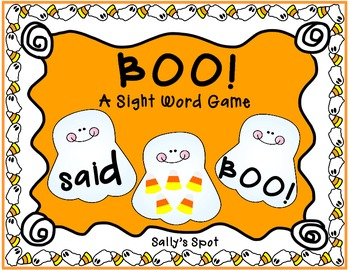 Boo!        A Halloween Sight Word Game