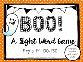Boo! A Sight Word Game Fry's 100-150