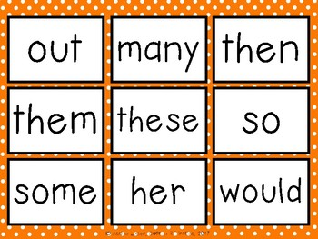 Boo! A Sight Word Game Fry's 50-100