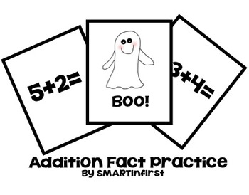 Boo!  Addition Fact Practice Game