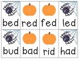 Boo! A Halloween ABC and CVC Blending Game